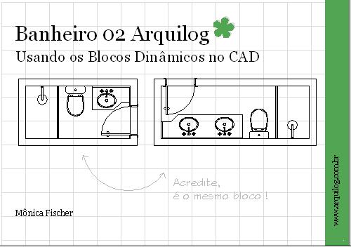 CAD  Blocos Dinâmicos  Banheiros Arquilog  Arquilog -> Bloco De Pia De Banheiro Para Autocad
