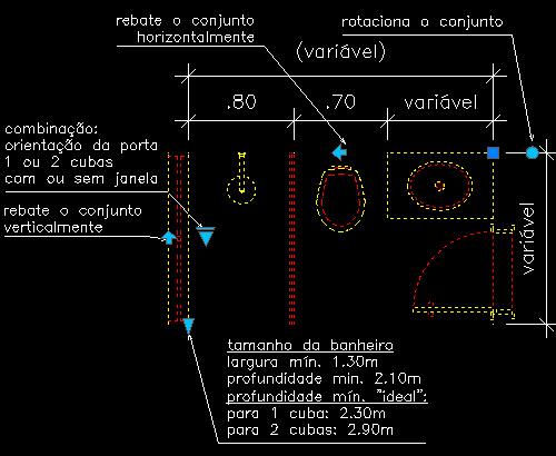 CAD  Bloco Dinâmico  Banheiro 01  Arquilog -> Cuba Banheiro Bloco Cad