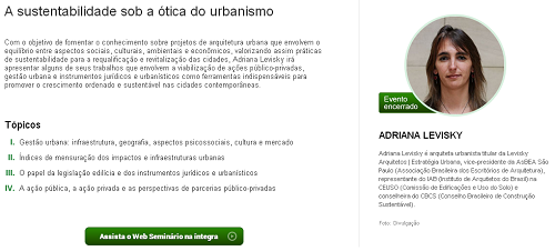 E-construmarket :: A sustentabilidade sob a ótica do urbanismo